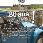 anniversaire route des Grands Crus au Clos de Vougeot